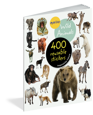 Load image into Gallery viewer, Eyelike Stickers: Wild Animals activity book