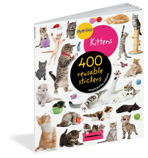 Load image into Gallery viewer, Eyelike Stickers: Kittens activity book