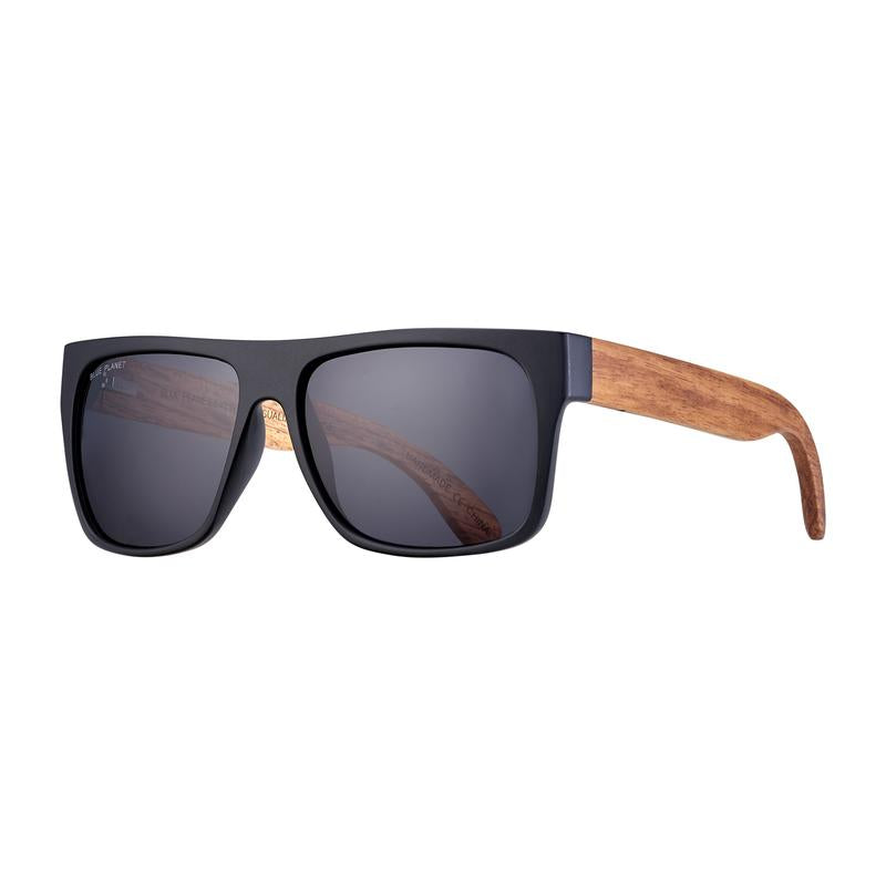 Keegan Matte Black/ Brown Wood/ Smoke Polarized eyewear
