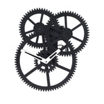 Triple Gear Wall Clock - Black clock