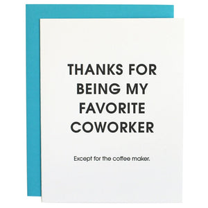 Load image into Gallery viewer, Favorite Coworker - Letterpress Card greeting card
