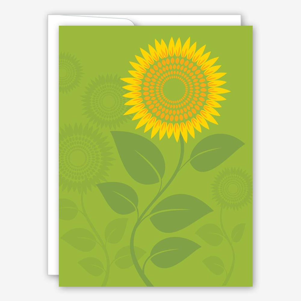 Sunflower On Green greeting card
