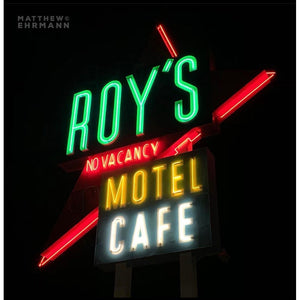 "Roy's (Night) - 12"" x 12"" Canvas with Gold Frame"