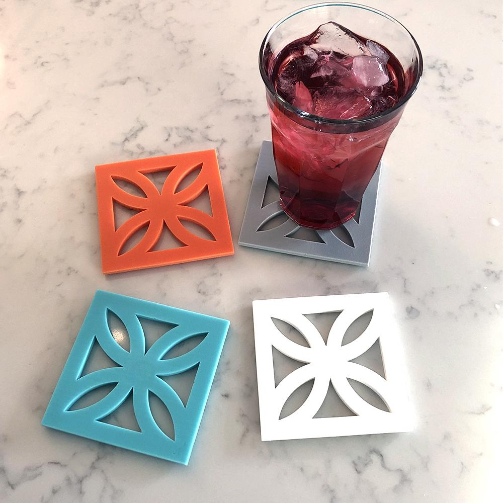 Breeze Block Coaster Set SunFlower (mixed colors) coaster set