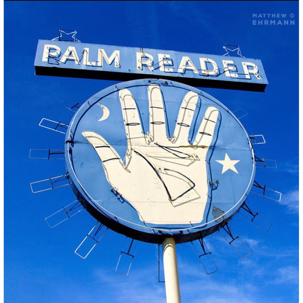 Palm Reader 12 x 12 Canvas with Gold Frame