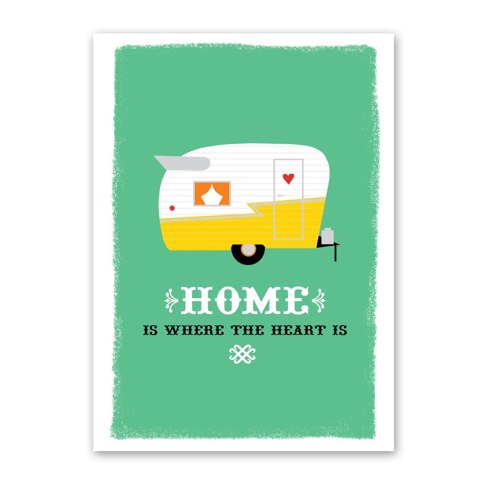 Trailer New Home Card greeting card