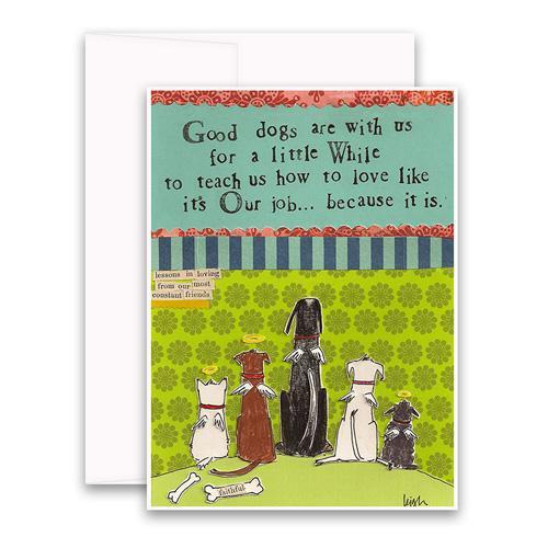 Good Dogs Card greeting card