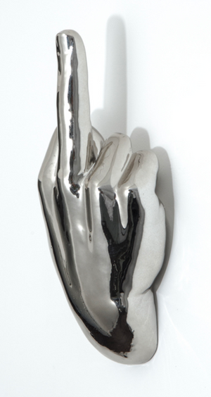 Middle Finger Wall Hanging : Silver
