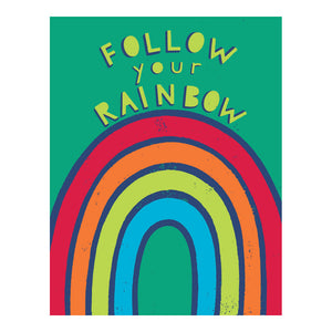 Load image into Gallery viewer, Follow your Rainbow greeting card