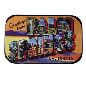 Load image into Gallery viewer, Greetings From Palm Springs Mints - Large Tin - Just Fabulous Galleries