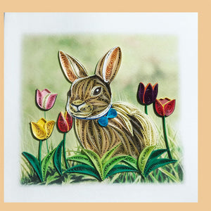 Bunny Quilling Blank Card - Handmade - Just Fabulous Galleries