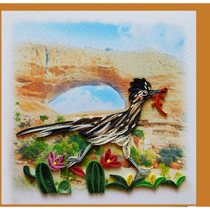 Road Runner Quilling Blank Card - Handmade - Just Fabulous Galleries
