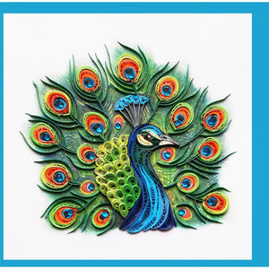 Load image into Gallery viewer, Peacock Quilling Blank Card - Handmade