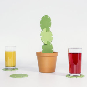 Cactus Coaster Construction Set coaster set