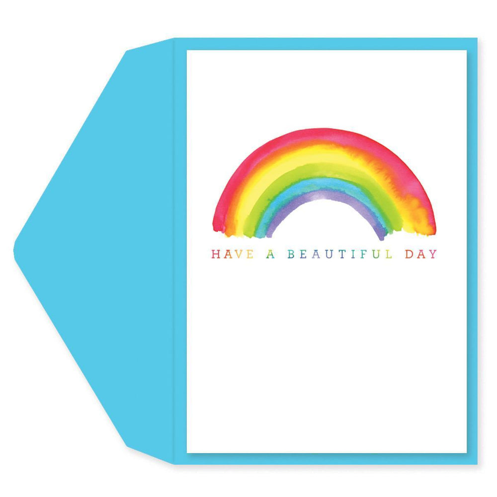 Have A Beautiful Day Rainbow - Blank greeting card