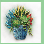 Succulent Quilling Blank Card - Handmade - Just Fabulous Galleries