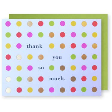 Happy Dots Thank You greeting card