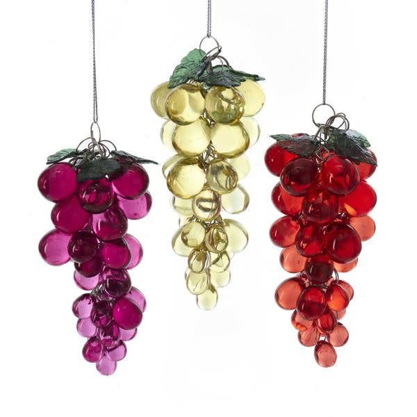 Load image into Gallery viewer, Acrylic Beaded Grapes Ornament x-mas ornament