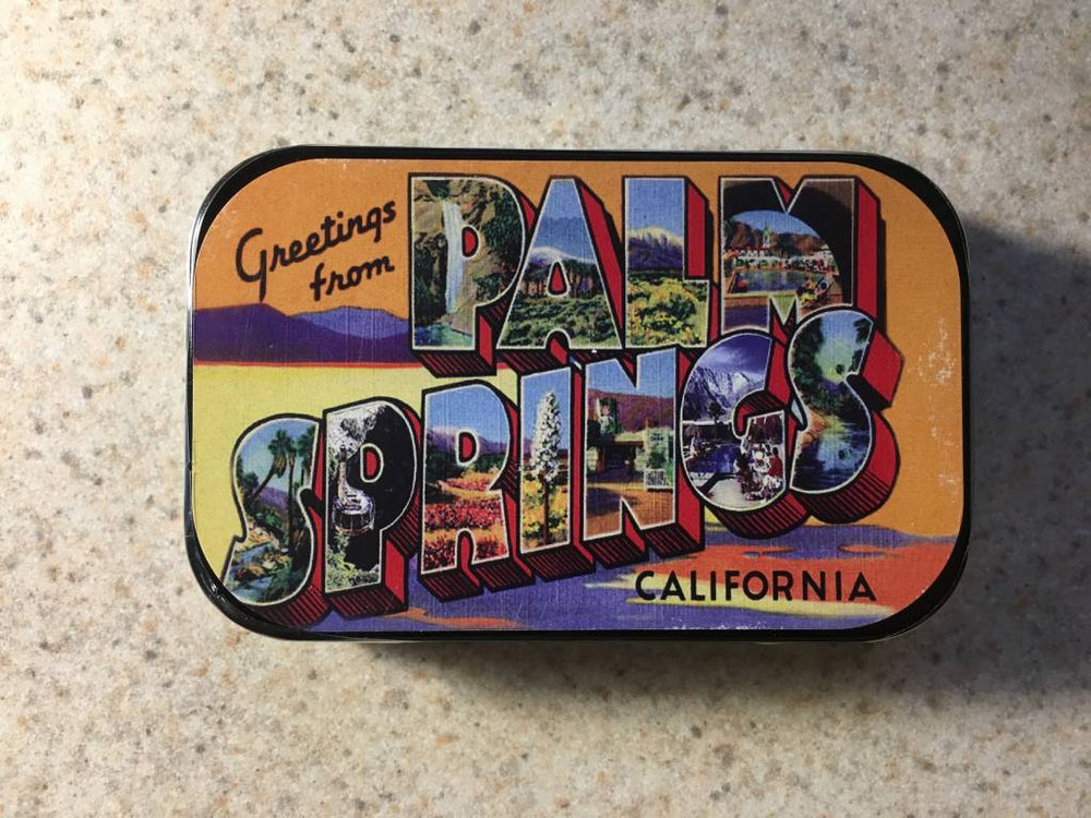 Greetings From Palm Springs Mints - Large Tin - Just Fabulous Galleries