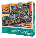 Greetings from Palm Springs Retro Jigsaw Puzzle jigsaw puzzle