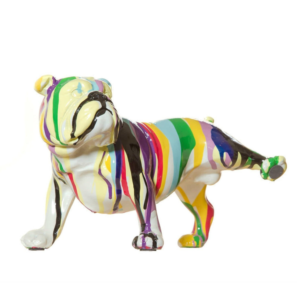Graffiti Bulldog Leg Up ceramic