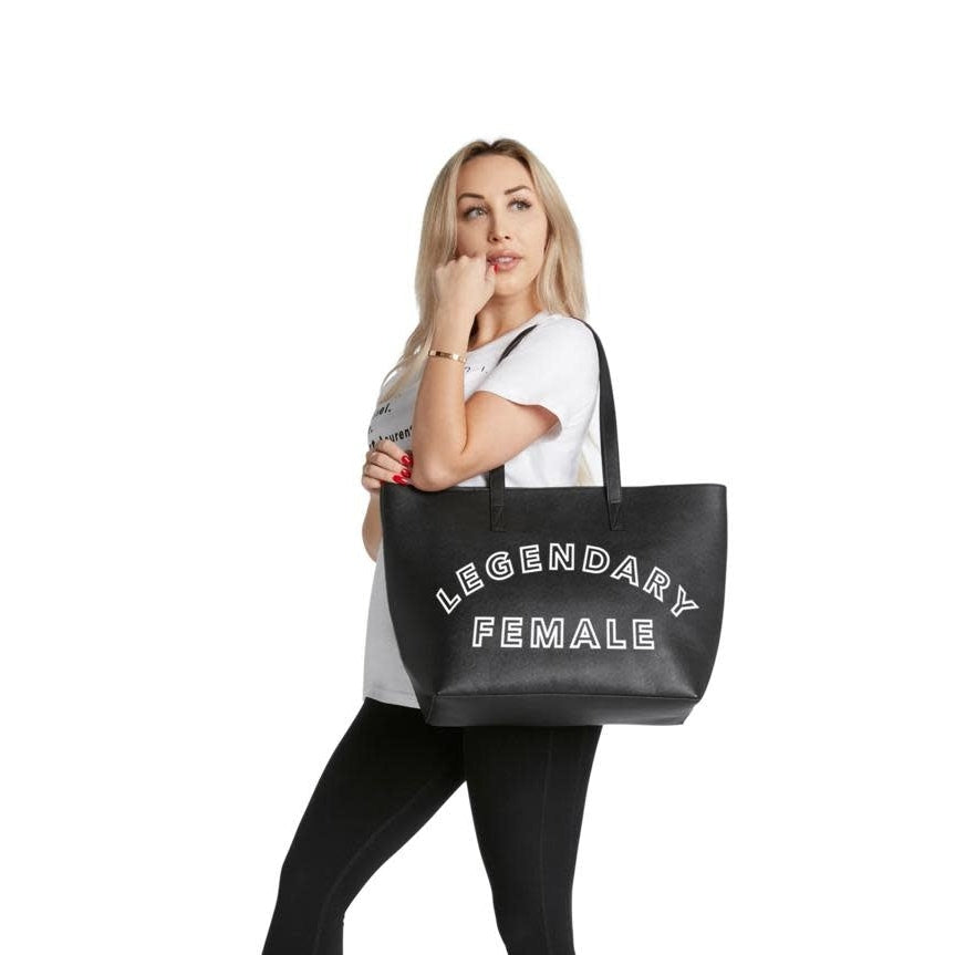 Vegan Leather Tote - Legendary Female tote bag