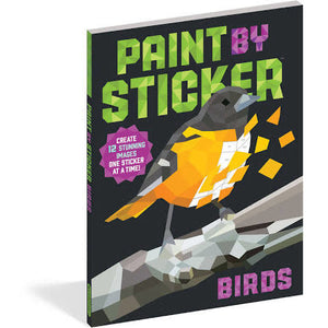 Paint By Stickers: Birds activity book