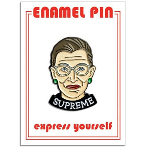 Load image into Gallery viewer, RBG Supreme Pin pin