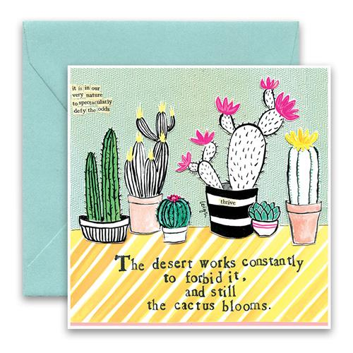 Load image into Gallery viewer, Cactus greeting card