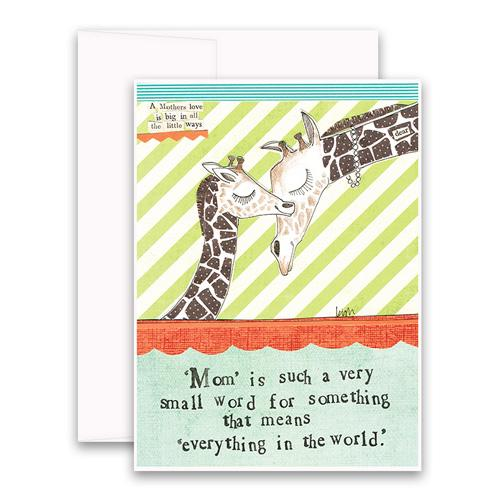 Mom Is Such A Small Word For Something That Means Everything In The World greeting card