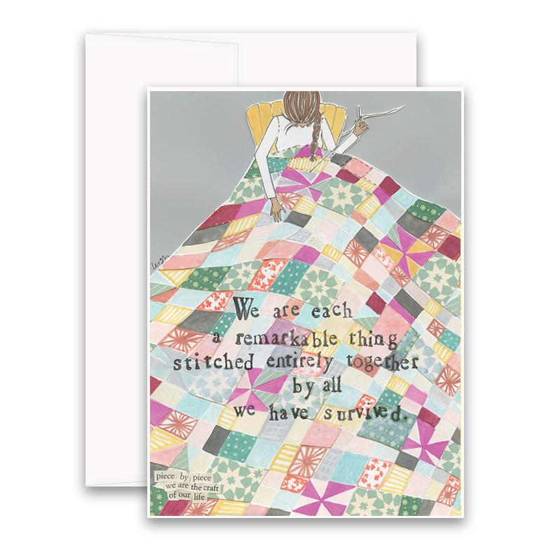 Stitched Together Card greeting card