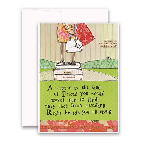 Sister Friend Card greeting card
