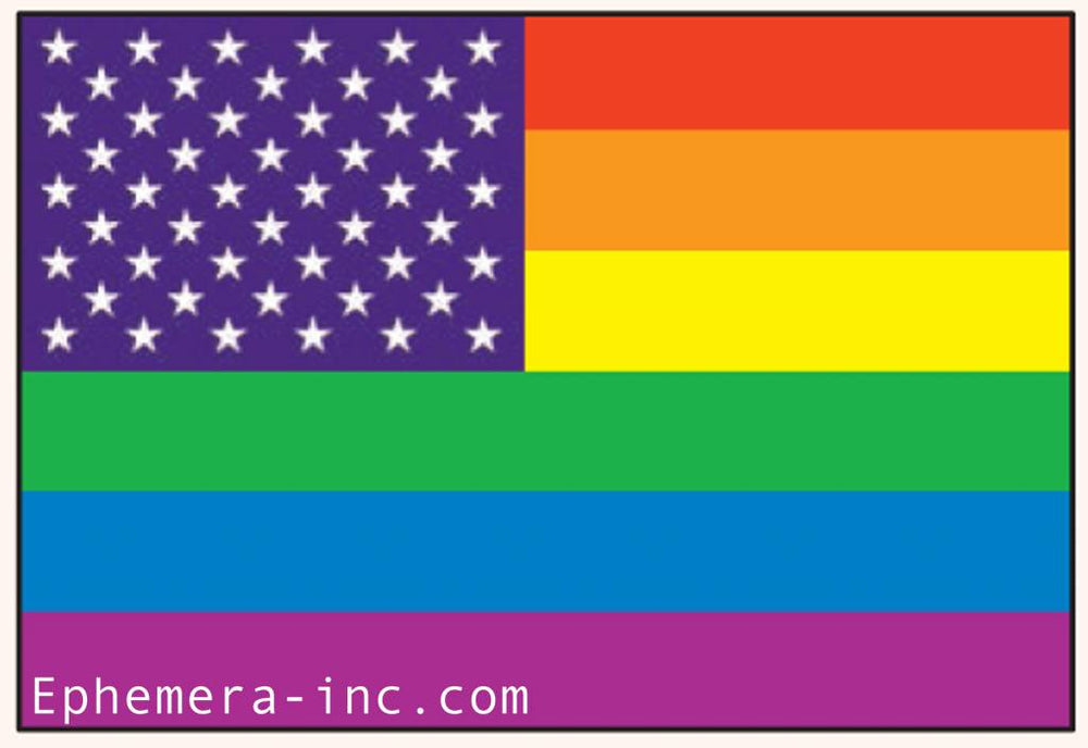 Load image into Gallery viewer, Rainbow American Flag Magnet magnet