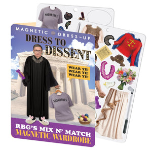 Load image into Gallery viewer, RBG Dress To Dissent - Magnet Wardrobe magnet set