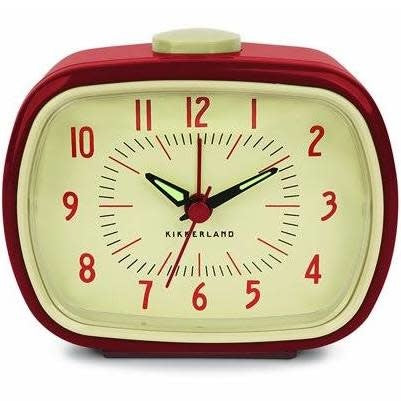 Retro Alarm Clock Red matted art