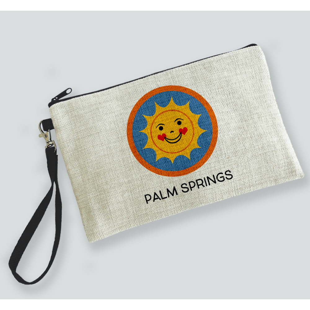Happy Sun Palm Springs Zipper Bag bag