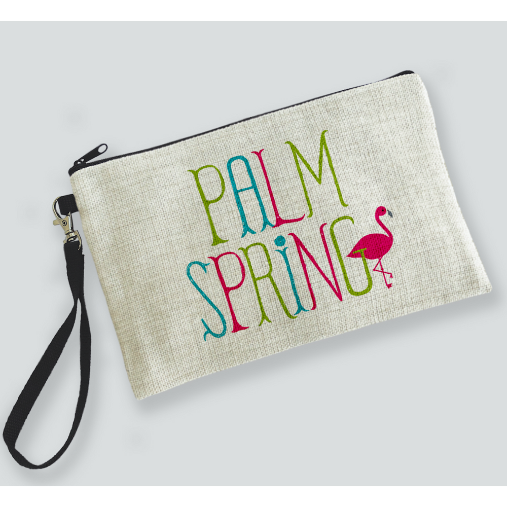 Flamingo Palm Springs Zipper Bag bag