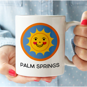 Happy Sun Palm Springs Mug mug