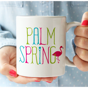 Load image into Gallery viewer, Flamingo Palm Springs Mug mug