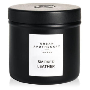 Smoked Leather Luxury Travel Candle 175g (6.3oz)