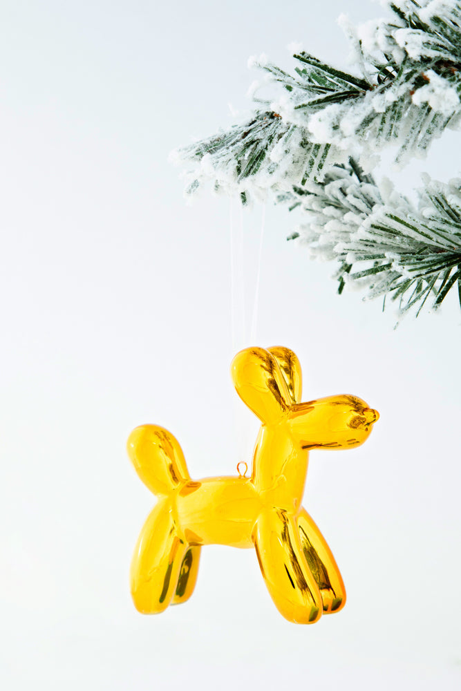 Load image into Gallery viewer, Koons Inspired Balloon Dog Ornament x-mas ornament
