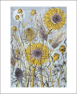 Autumn Garden, Norfolk by Angie Lewin