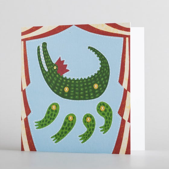 Cut-Out Crocodile Puppet by Alice Melvin