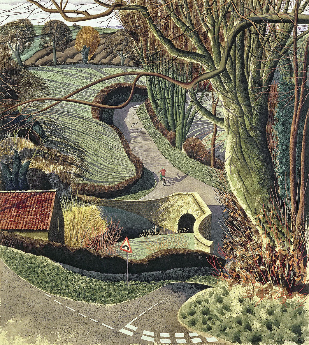 Cycling Home, 1996 by Simon Palmer