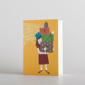 Happy Birthday Presents (mini card) by Alice Melvin
