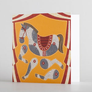 Cut-Out Horse Puppet Card by Alice Melvin