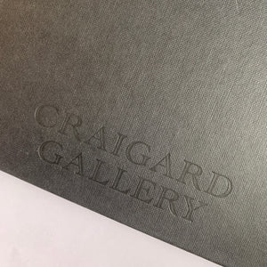"""Craigard Gallery"" Embossed Seawhite Jumbo Square & Chunky Cloth Bound Hardback Sketchbook"