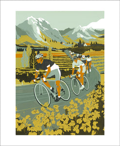 Vineyard Cyclists by Eliza Southwood