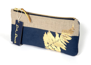 Gold Fern Pencil Case