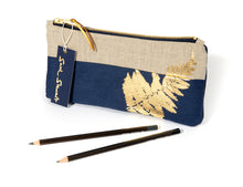 Load image into Gallery viewer, Gold Fern Pencil Case